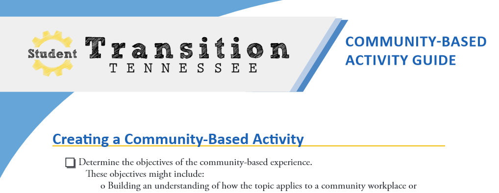 Community-Based Activity Guide and Letter Templates