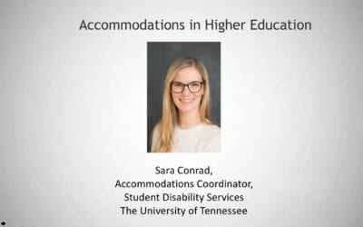 Accommodations in Higher Education